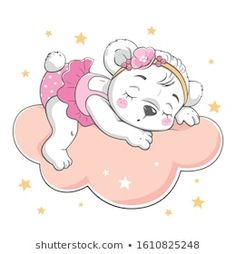 Immagine vettoriale stock 1610825248 a tema Vector Illustration Cute Baby Bear Sleeping (royalty free) Kids Cartoon Characters, Illustrator, Cute Cartoon, Cartoon Kids, Cute Baby Elephant, Belly Painting, Clip Art, Tatty Teddy, Decoupage Paper
