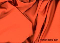 Rust Tahari Satin Fabric