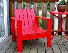 DIY Furniture : DIY Simple Outdoor Lounge Chair