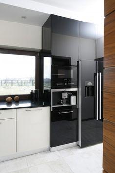 AGD w kuchni. Gdzie umieścić wszystkie sprzęty?  - zdjęcie numer 12 House Front Design, Kitchen Design, Table, Kitchens, Dreams, Inspiration, Furniture, Grey, Home Decor