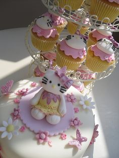 Hello Kitty and Cupcakes