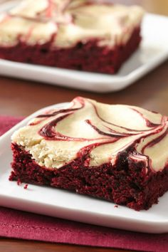 These red velvet and espresso swirled brownies are amazing!