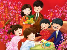 As other Asian countries, the most important holiday in Vietnam is Tet Holiday. Family Illustration, Cute Illustration, Character Illustration, New Year Doodle, Pusheen Cute, Happy New Year Wallpaper, Chinese New Year 2020, Cute Girl Drawing, Mid Autumn Festival