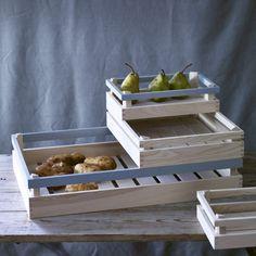 Madly Wooden Storage Crates at Rowan & Wren