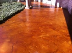 Resurfaced and stained concrete patio Concrete Finishes, Concrete Wood, Stamped Concrete, Concrete Floors, Concrete Staining, Concrete Resurfacing, Concrete Patios, Overlays, Outdoor Fun