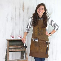 We are very excited about our best selling gift so far this year, our Leather and Canvas Aprons. We've got 3 different styles that make wonderful gifts for Waxed Canvas, Aprons, Different Styles, Overalls, Uk Fashion, Detail, Pants, Leather, Furniture
