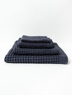 Lattice Towel has a unique waffle-like texture that is soft to the touch, highly absorbent, and elegantly sculpted. These 100% cotton towels are gently woven on
