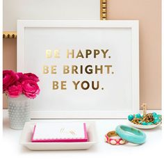 """""""Be You"""" print from Sugar Paper – Paper Luxe"""
