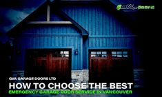 It is tough to plan a fitting time for your garage door to collapse. Even if the garage door has been giving you warning signs, you still expect it to wait at least another day to breakdown completely. When that does not happen, you need immediate help from a reputable garage door company in Vancouver. Here is how to choose an emergency garage door service provider that can get you back on track quickly. Garage Door Company, Garage Door Repair, Garage Doors, Back On Track, Vancouver, How To Find Out, Cabin, Warning Signs, House Styles