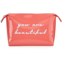 Lolo Bags Betty Small Cosmetics Bag ($45) ❤ liked on Polyvore featuring beauty products, beauty accessories, bags & cases, bags, beauty, makeup, makeup purse, make up purse, cosmetic purse and travel kit