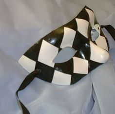 Men's Masquerade Mask/Checked