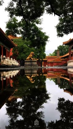 A courtyard in Beijing Forbidden City after heavy storm