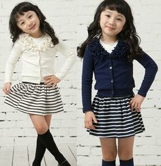 Girl Baby Top Coat Skirt 1 6Y Lovely Clothes 2 Piece Kids Outfit Knitwear Dress | eBay