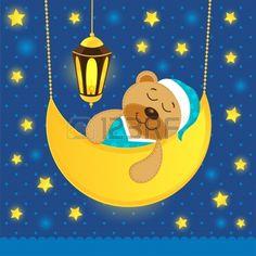 dormir oso de peluche Foto de archivo