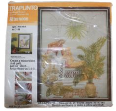 Vintage Trapunto Quilting Picture Crewel Stitchery Kit 1976 Pillow Wall Hanging