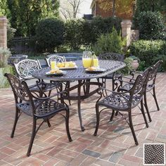 For our new house! Breakfast on the patio on Sunday morning! Vintage Outdoor Patio Furniture Sets Garden Table And Chairs Black Wrought Iron In Outdoor Patio Space Outdoor Dining Set, Outdoor Living, Outdoor Decor, Patio Dining, Outdoor Spaces, Outdoor Ideas, Rustic Outdoor, Outdoor Life, Outdoor Seating