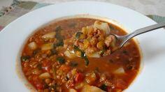 Sopa de Lentejas y Chorizo