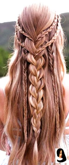 Hairstyles for prom 40 Trendy Braided Hairstyles For Long Hair To Look Amazingly Awesome 40 Trendy Braided Hairstyles For Long Hair To Look Amazingly Awesome;Beautiful prom hairstyles long hairstyles for teens. Curly Prom Hair, Curly Hair Braids, Braids With Curls, Braids For Long Hair, Curly Hair Styles, Long Prom Hair, Long Curls, Cute Hairstyles For Kids, Teen Hairstyles