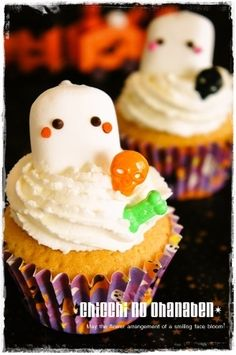 marshmallow ghost cupcake