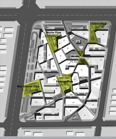 Gallery of Mixed-Used Masterplan of YueHaiWanJia Commercial District / SURE Architecture - 9 - Mixed-Used Masterplan of YueHaiWanJia Commercial District / SURE Architecture,plan 03 - Architecture Site Plan, Masterplan Architecture, Architecture Graphics, Urban Design Concept, Urban Design Diagram, Mix Use Building, Commercial Street, Urban Fabric, Mixed Use