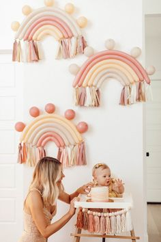 Rainbow First Birthday, 1st Birthday Party For Girls, Rainbow Baby, Birthday Party Decorations, Birthday Ideas, Birthday Outfits, Funny Birthday, 1st Birthday Balloons, 25 Birthday