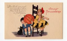 New listing vintage halloween postcard pacific by bebvintage, $24.00