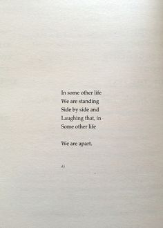 some other life...