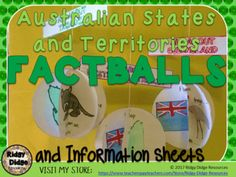 Australian States and Territories Factballs and Fact Sheets Rainforest Ecosystem, Fast Finishers, Teaching Geography, Australian Curriculum, Group Activities, Enabling, Comprehension, Studying, Assessment