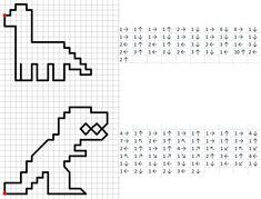 """В целях """"наконец-таки-выучения-где-лево-где-право"""" пытаюсь придумать разные быстрые задачки, напала на графические диктанты - тут как нигде нужно отличать лево и право. Тема нужна такая, чтобы соблазнить лентяйку и нехочууууху, а любимые у нее - динозавры (ага, девочка-девочка).... Creative Activities For Kids, Learning Activities, Kids Learning, Fun Math, Math Games, Math Art, Computational Thinking, Graph Paper Art, English Worksheets For Kids"""