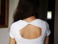 bow back shirt. would be awesome on a dress, but with a straight not curved bottom opening