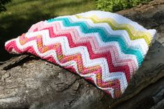 Chevron ZigZag Pattern Crochet Afghan Baby by CraftyMommyCrafts, $45.00