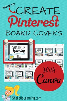 Create Fabulous Pinterest Board Covers with Canva! Get organized and make your…