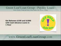 No Credit Checks! No Faxing! Get Cash Advance Loans in 1 Hour: http://youtu.be/FBkWH8ZyURU Apply at http://www.greenleafloangroup.com/ #cashadvance #cashloans