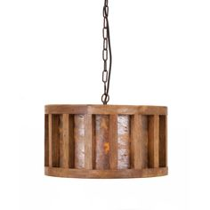 Kennedy Wood and Wire Pendant Light | Overstock.com Shopping - The Best Deals on Chandeliers & Pendants