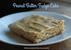 Texas Sheet Cake Style Peanut Butter Cake- THM S, Low Carb, Keto, Gluten Free