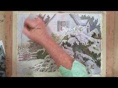 Watercolor Painting Red Barn in Snow - YouTube