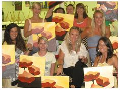 Planning your next girls' night out? Check out Painting with a Twist, where you and your girlfriends can create one-of-a-kind artistic creations with the help of a local artist, all while sipping your favorite cocktails!
