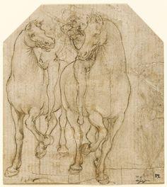 Leonardo da Vinci, Two horsemen on ArtStack #leonardo-da-vinci #art