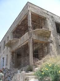 Spinalonga, Crete. Another building from the abandoned leper colony that existed on the island until 1957.