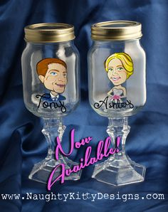 Wedding Party Mason Jar Hillbilly Gles Custom Painted Whiskey We Can Personalize These Unique