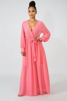Chiffon Sheer Maxi Dress