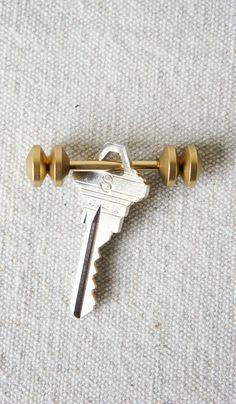 Postalco Abacus Brass Key Holder