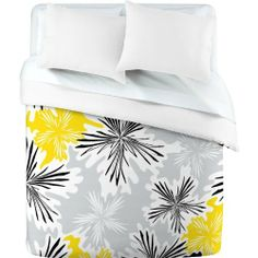 DENY Designs Karen Harris Bumble Bee Whisper Duvet Cover, Queen by DENY Designs. $189.00. Color-Top: Full color, Color-Bottom: White. Metal snaps for closure. Closure: Metal snaps seen in snap closure view. Fabric: Ultra soft, 100-percent polyester microfiber. Manufacturing: 6 color dye process, custom printed for every order. Turn your basic, boring down comforter into the super stylish focal point of your bedroom with this deny designs duvet cover. Custom printed when you order...