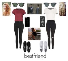 """bestfriends ^^"" by tessaaxo ❤ liked on Polyvore featuring Topshop, adidas, Casetify and Ray-Ban"