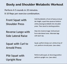 Booty & Shoulder Metabolic Workout