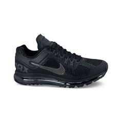 black nike air max shoes