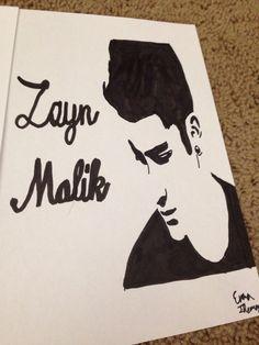 My drawing of zayn ❤️