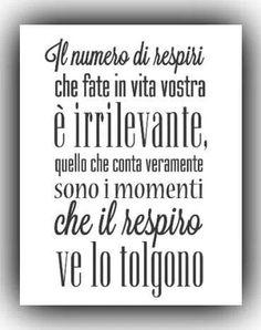 Parole e ispirazione - Senza fiato #vita