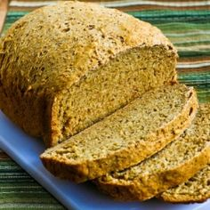 Use your bread machine to make this 100% whole wheat bread with bran, oats, and flax seed.
