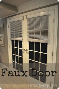 A faux door in a basement...  @cleverlyinspired